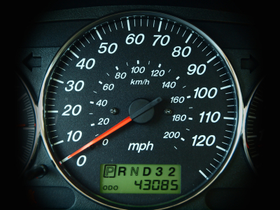 odometer mileage reading