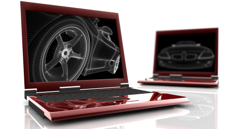 Computer with picture of a car online