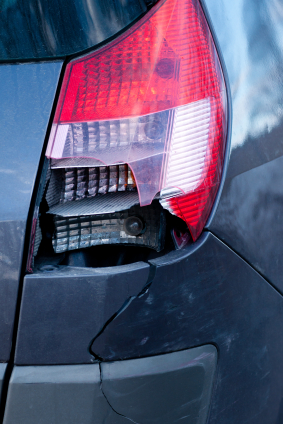 cracked tail light