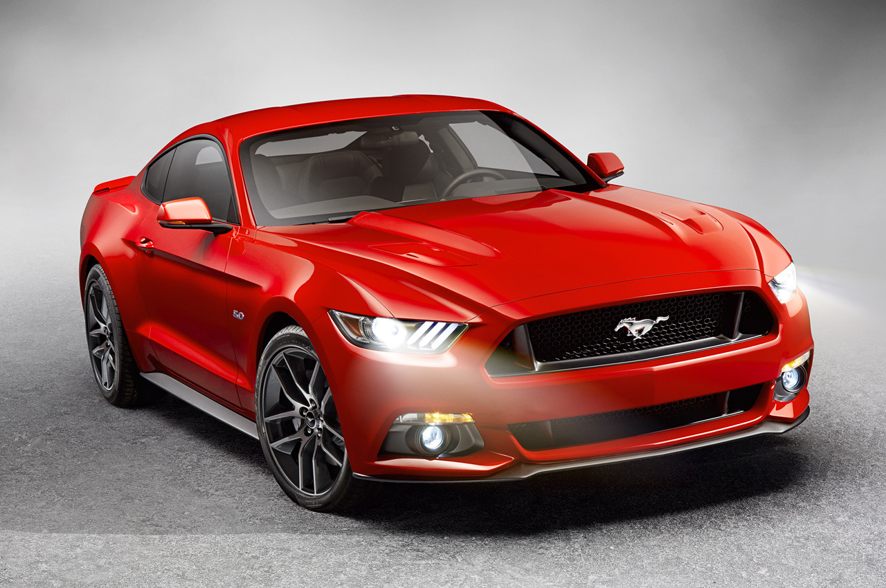 2015 ford mustang front quarter