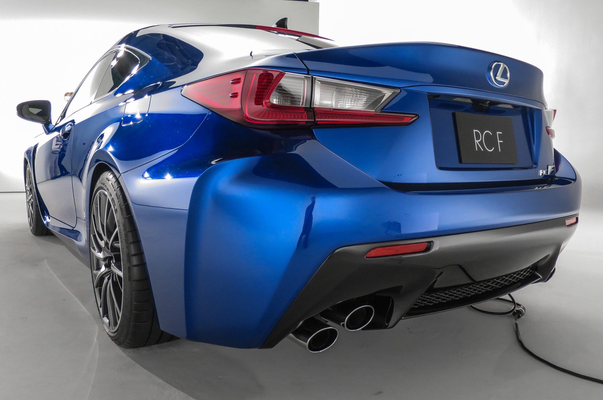 2015 lexus rc-f rear