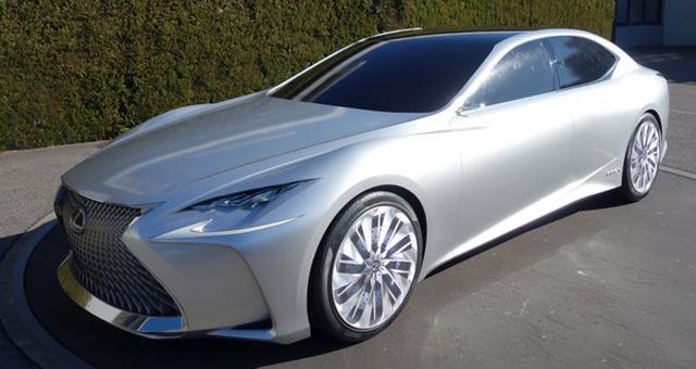 Lexus LF-FC Concept Spied in Silver