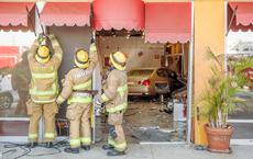 Lexus Saloon Driven Into Salon