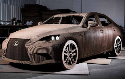 Lexus Builds a Driveable Cardboard Car (Photos)