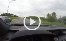Lexus RCF Hunts Aston Martin on Open Road