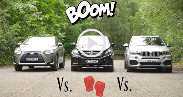 BMW X5 vs Mercedes GLE vs Lexus RX