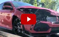 2017 Civic Type R's Crazy Crash