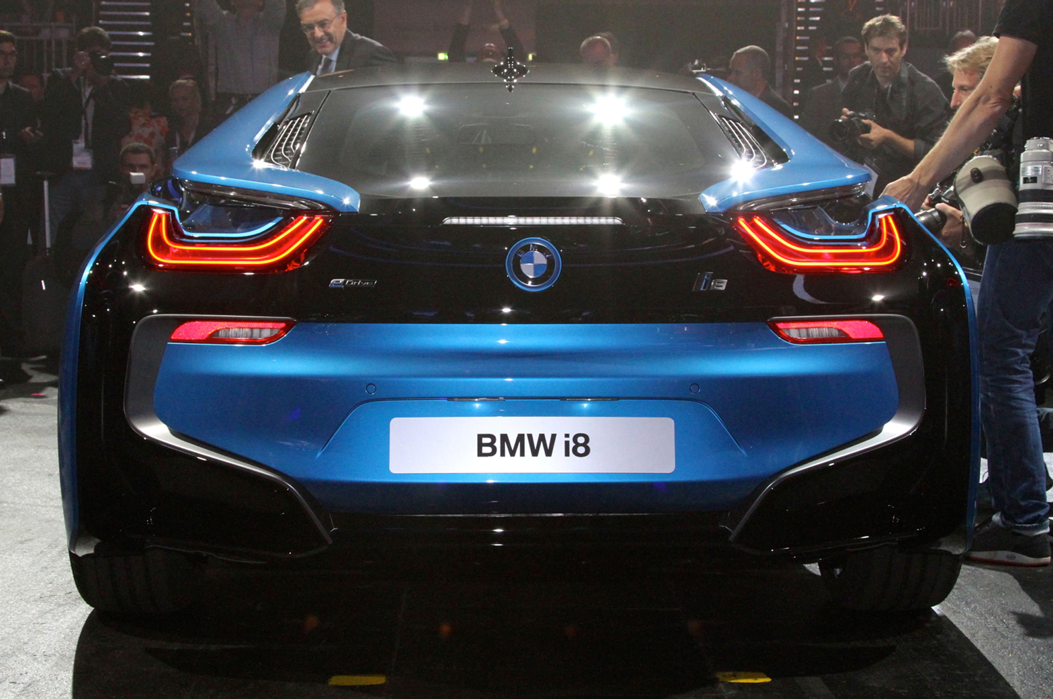 2014 BMW i8 plug in hybrid rear end