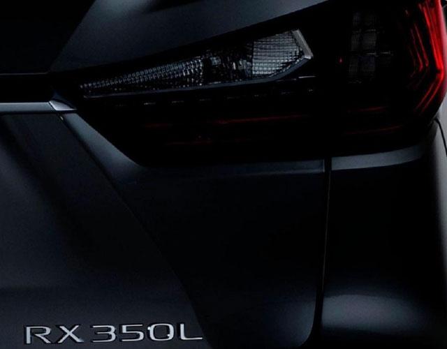 2018 Lexus RX 350L to Debut Nov. 29 in L.A.